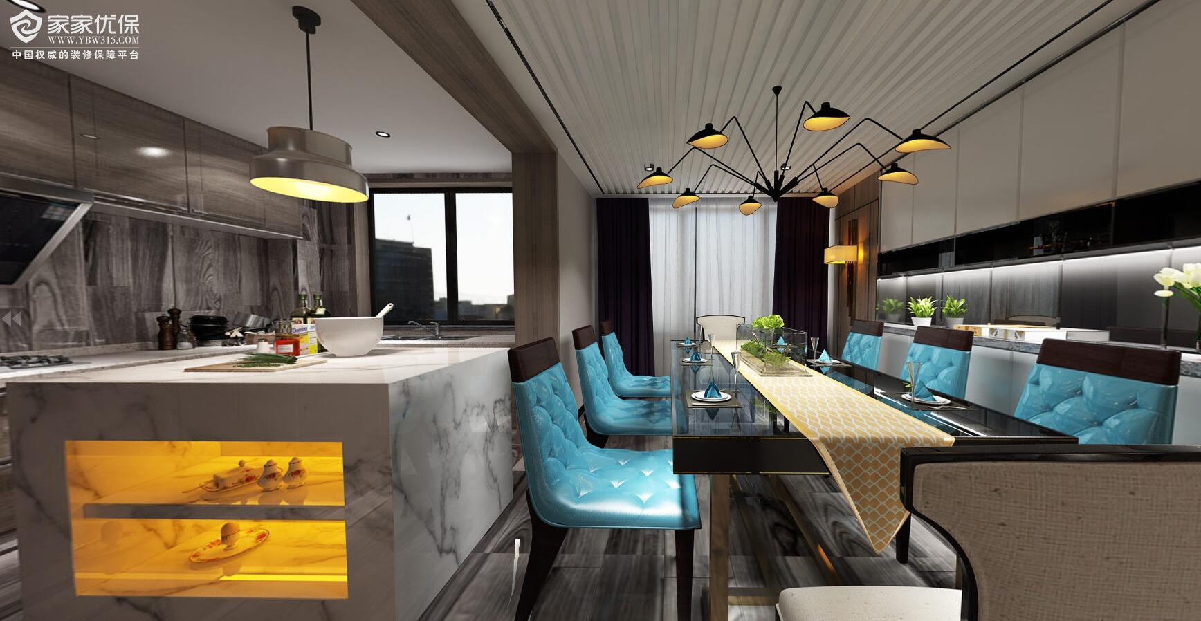 三房两厅现代风格装修3DVR全景图
