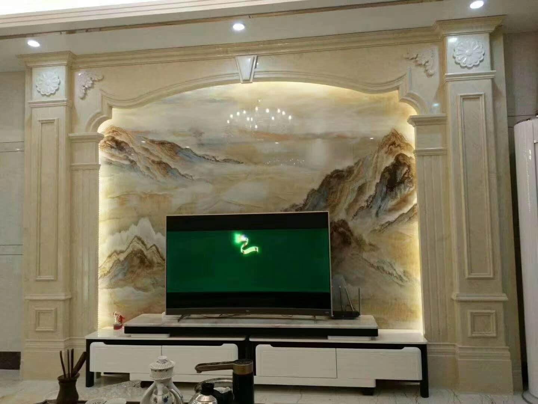 电视背景墙大理石案例