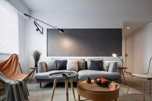 110㎡简约风格装修效果图,客厅灯光布局非常丰富
