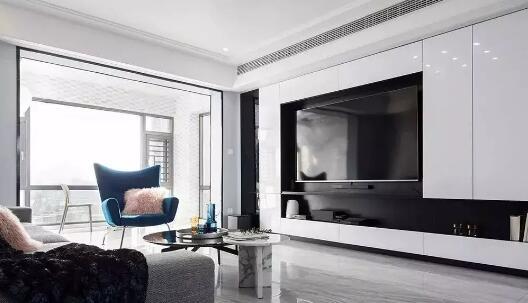 大户型现代风格装修效果图,客厅无主灯配抛光瓷砖很亮眼