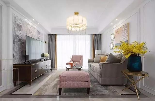 三室两厅装修案例,浪漫温馨的美式设计
