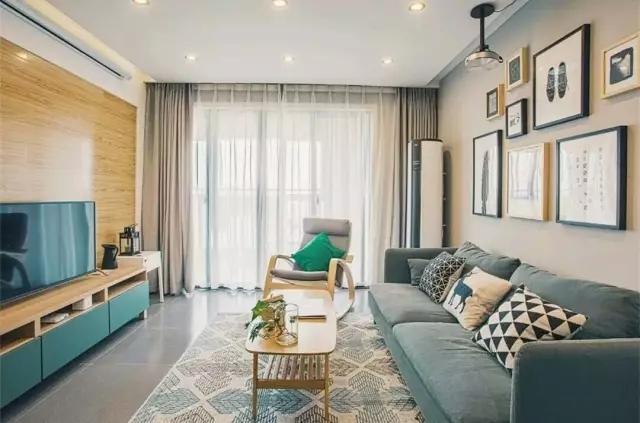 100平米二居室装修设计案例,清新大时尚的北欧风