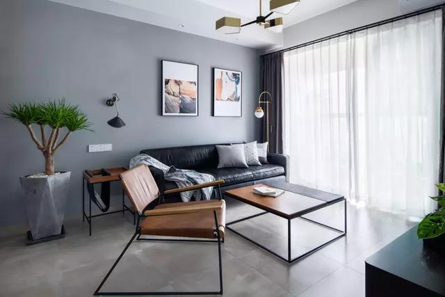 88㎡现代简约风格新房装修效果图,精简干练的时尚空间