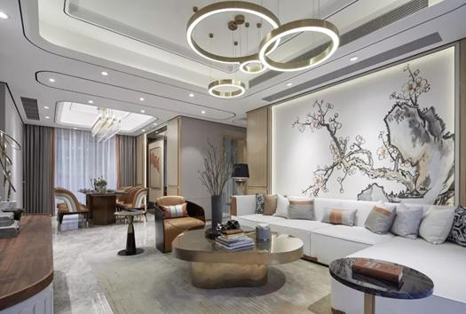 新中式风格装修效果图,室内灯光设计颜色搭配真心赞