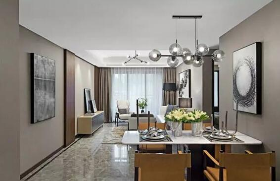新中式风格装修案例,室内色彩协调统一打造大气美观的家