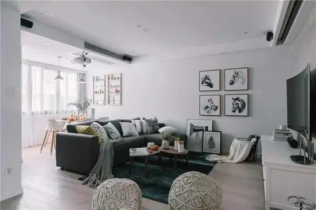 128平北欧风复式装修案例,三居变五居