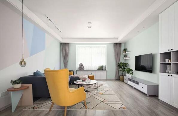 北欧风格新房装修效果图,硬装和色彩的搭配营造百看不厌的画面