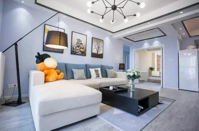 110平三居室室内装修效果图,不过时的经典简约风设计