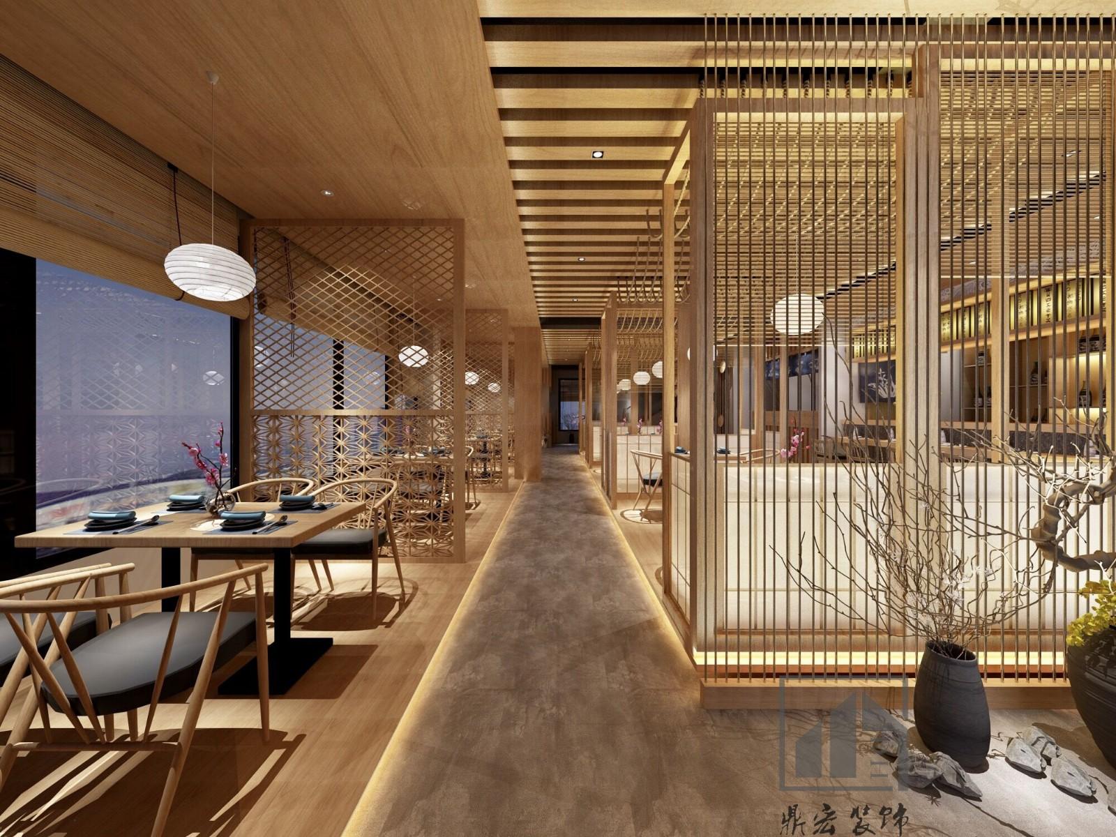 鼎宏装饰 日式餐饮空间店铺